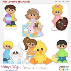 Whats In My Basket Layered Element Templates