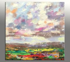 Abstract Landscape Painting Contemporary by GeorgeMillerArt