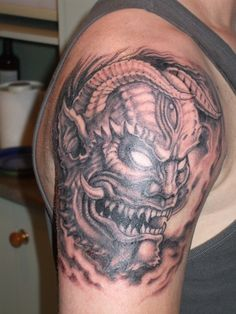 Best representation descriptions: Japanese Demon Mask Tattoo Related searches: Tattoo Ideas for Women,Girl Tattoo Ideas,Tattoo Designs for . Japanese Demon Mask Tattoo, Japanese Oni Mask, Oni Mask Tattoo, Japanese Sleeve Tattoos, Tattoo Japanese, Japanese Dragon, Cute Tattoos On Wrist, Weird Tattoos, Badass Tattoos