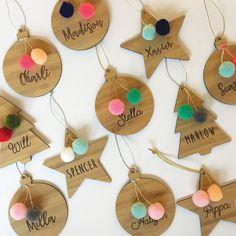 Complete your Christmas tree with our new personalised decorations. Our Ornaments feature 2 fun handmade pom poms in your choice of colours to suit any theme. B