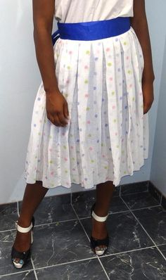 AFRICAN PRINT MAXI SKIRT #Handmade #gatheredskirt