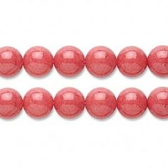 8mm Pink Coral Mountain Jade Round Beads by KristysBeadBoutique, $3.25