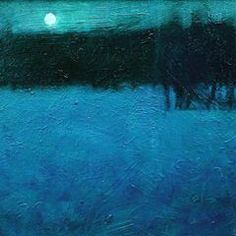 And goodnight. By David Sharpe Cool Paintings, Abstract Paintings, Landscape Paintings, Abstract Art, Nocturne, Contemporary Landscape, Abstract Landscape, Snow Scenes, Blue Art
