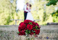 www.mjsphotography-eugene.com   MJ's Photography. Wedding Photography. Wedding Photographers. Wedding Day. Pictures. Portraits. Flowers. Bouquet. Red Roses. Carnations. outside. outdoors. natural light photography. ideas. must have pictures. bride and groom. wedding dress. bridal gown. red and cream. field. theme wedding. love. local photographers. eugene. portland. bend. salem. albany. oregon. ideas. thoughts. try it. save it. list. lists