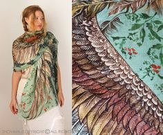 Wing Scarf Bird Feather Scarf Festival Clothing Sarong от Shovava