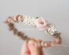 Newborn Flower Crown Newborn Photo Prop: by CastAwayCollection