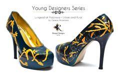 Lungsod at Probinsya / Urban and Rural by Genesis Alcantara custom shoes / hand painted / pumps Young Designers, Pumps, Heels, Custom Shoes, Christian Louboutin, Peep Toe, Hand Painted, Urban, Fashion