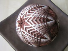 milk chocolate hand embroidered decorative thread by julieandco