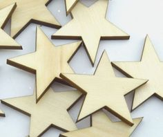 Wooden Star Butterfly Tag