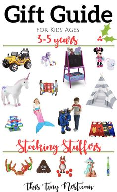 Christmas Gift Guide For Kids 3-5 Years Old ( Stocking Stuffers!) - ThisTinyNest.com #giftguide2017 #christmasgifts #kidstoys #hottoys2017 #kidsgiftguide #holidaygiftguide