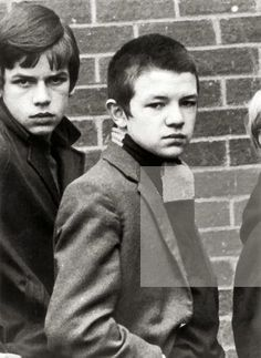 A glowering British teenager with severely cropped hair, 1st February 1970.