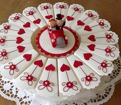 Hochzeitstorte/Gastgeschenke von Liebe Grüsse auf DaWanda.com
