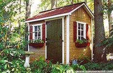 A Glimpse into my Sheds Future #shedplans Lean To Shed Plans, Diy Shed Plans, Backyard Sheds, Outdoor Sheds, Backyard Cottage, Outdoor Gardens, Building A Shed Base, Building Ideas, Building Plans