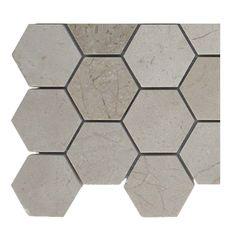 SomerTile 115x12 inch Ridge Hexagon Sunset Stone Mosaic