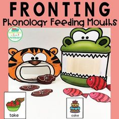 These phonology friendly 'feeding mouths' are such an engaging way to implement phonological therapy in a way that will motivate your kids... because who doesn't like feeding??!! Each animal is associated with a sound (e.g. 't' for tiger and 'k' for