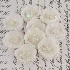 Amazon.com - Frost Tasha Fabric Flowers (Prima) - Scrapbooking Embellishments