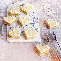 Zitronenherzen mit Cremefüllung Rezept   Küchengötter