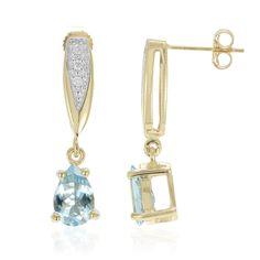 Boucles d'oreilles en or et Aigue-Marine Santa Teresa-9670BE | Juwelo Bijouterie