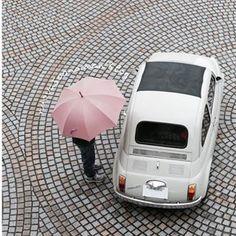 愛車は1966年式 雨にも負けず峠道を飛ばします #fiat500 #fiat500cinquecento