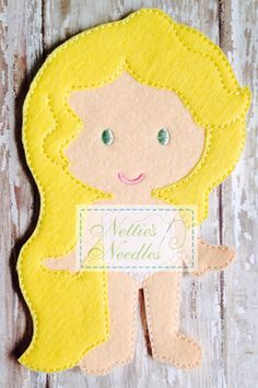 Rapunzel Felt Doll by NettiesNeedlesToo on Etsy, $7.00