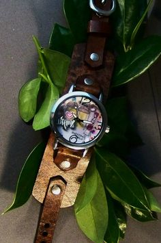 Vintage Leather Watchband by 4MLeatherDesign on Etsy, $48.99