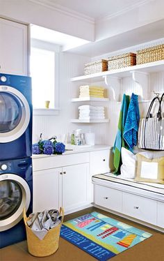 Basement Laundry Room ideas for Small Space (Makeovers) 2018 Small laundry room ideas Laundry room decor Laundry room storage Laundry room shelves Small laundry room makeover Laundry closet ideas And Dryer Store Toilet Saving Small Laundry, Laundry In Bathroom, Laundry Rooms, Mud Rooms, Laundry Closet, Laundry Area, Garage Laundry, Laundry Decor, Basement Laundry