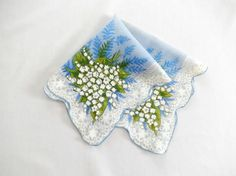 Lily of the valley handkerchief/vintage by vintagebyclaudine