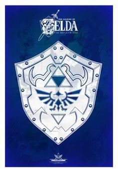 Legend of Zelda: Shield Poster - Created byTom Ryan