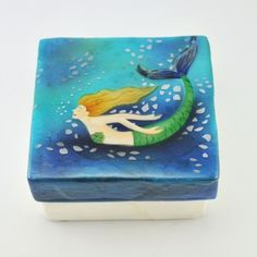 [6191] mermaid capiz box