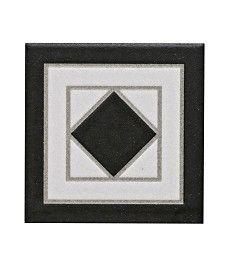 Grosvenor� Corner Black/White & Black/Blue Tile