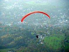 Paragliding over Baden Baden. Paragliding, Extreme Sports, Beautiful Places, Animals, Animales, Animaux, Animal, Animais