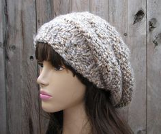 Hand Knit Hat - Slouchy Hat