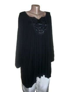 Black Boho Tunic Cotton Tunic Plus Size Clothing by PlusStyle, £26.00