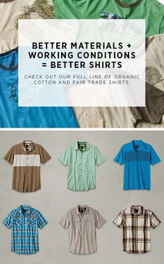 Fair Trade and Organic--browse our collection of Organic Cotton T-Shirts  http://www.prana.com/men/collections/organic-cotton.html