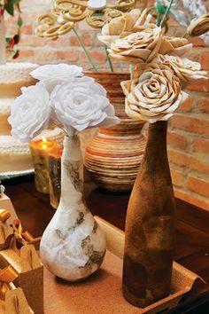 OS MELHORES ARTESANATOS: Flores com filtro de café
