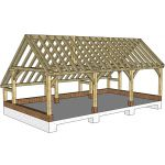 Solid Oak Garages and Car Ports, London and Home Counties - Cedar Nursery