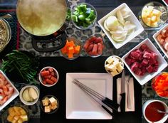 Use your fondue pot for a fun family dinner.