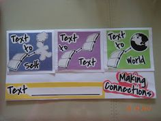 Text connections foldable