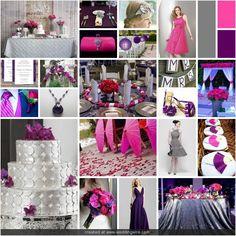 pinterest pink & silver weddings | Wedding Inspirations: Fuschia, Purple, and Grey Wedding
