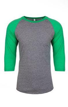 3c62bbf7612 Ladies Tri-Blend 3 4 Sleeve Raglan · BaseballWorkoutClothing IdeasFitnessTeeUnisexT  ShirtWork ...