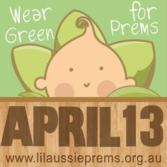"On April 13 this year we will be wearing green! A little late for St Paddy's Day. Yes. But just in time for Wear Green for Premmies Day. A day to raise awareness of premature birth and raise funds for a great cause to support families and hospital units caring for these tiny little bubs.   Little Jimmy was 11 weeks early. Born at 29 weeks, weighing a ""healthy"" 1520g. Our early arrival was unexplained and uncomplicated. But many are not so fortunate. Our NICU at The Womens Hospital took care…"