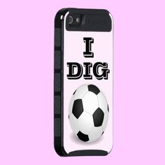 I DIG SOCCER Skinit Cargo Phone Case for iPhone 4, iPhone 5 or Samsung Galaxy 3 #phonecase #soccer #sports #fashion #football #futbol #samsung #iphone #women #fashion #cool #want #need #love
