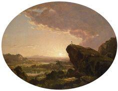 Moisés Avista a Terra Prometida - Frederic Edwin Church