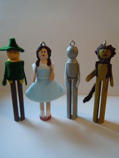 Wizard of Oz Clothespin Doll Christmas Ornaments