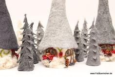 Winterhäuschen, Filzlampe von Das-FilzStuermchen auf DaWanda.com