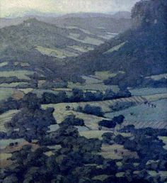 ".""the nimbin valley without a helicopter"" oil on canvas"