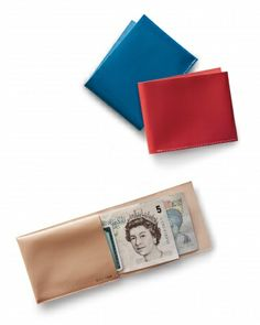 These supple wallets are a stylish solution to a billfold that bulks up his pockets