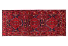 "One Kings Lane - Uncommon Ground - 2'7""x6'7"" Beshir Rug, Red"