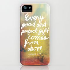 umm yepp, putting on my xmas list. James 1:17 iPhone Case by Ryan Miranda - $35.00