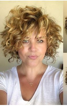 Cute Hairstyles For Short Hair, Permed Hairstyles, Curly Hair Styles, Bob Haircut Curly, Short Curly Haircuts, Short Permed Hair, Short Hair Cuts, Hair Color Auburn, Short Hair With Layers